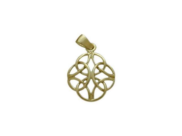 Celtic 10 Karat Yellow Gold Knot Pendant with Chain