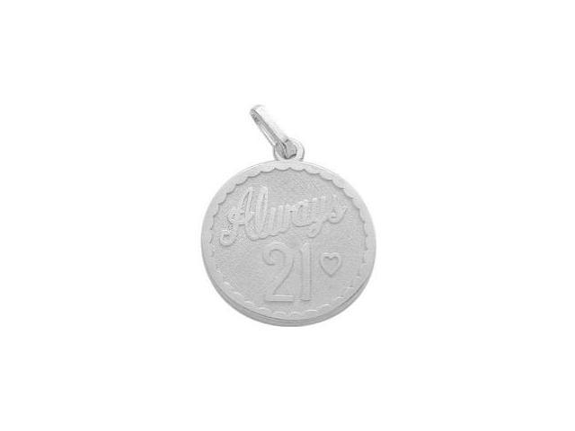 Sterling Silver Always #21 Age Expression Pendant with Chain