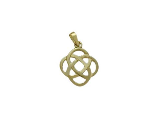 Fancy Celtic 10 Karat Yellow Gold Knot Pendant with Chain