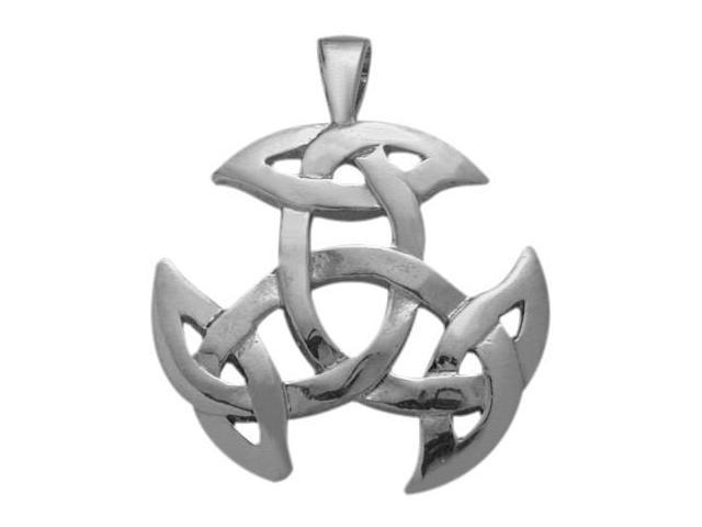 Genuine Sterling Silver Celtic Galway Knot Pendant with Chain