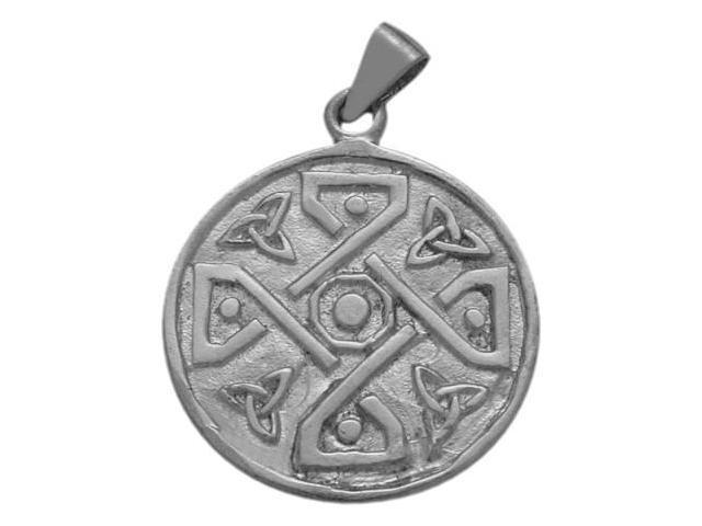 Sterling Silver Celtic 4 Trinity Circle Pendant with Chain
