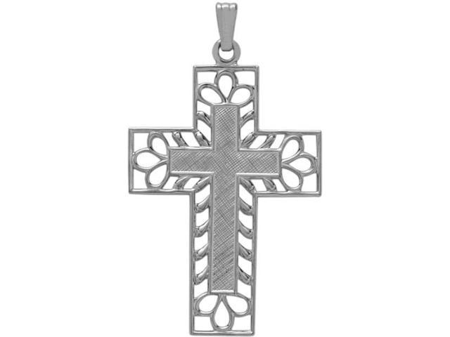 Classy Genuine Sterling Silver Religious Cross with chain
