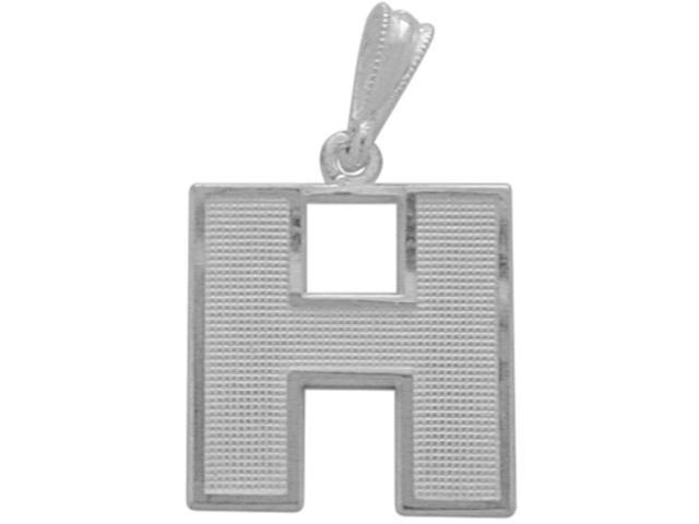 Sterling Silver Initial H Pendant with Chain