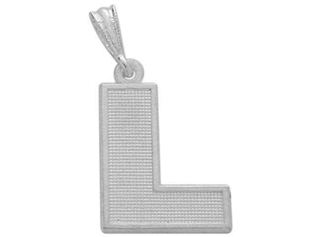 Sterling Silver Initial L Pendant with Chain
