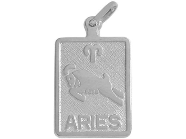 Sterling Silver Aries Zodiac Pendant with Chain