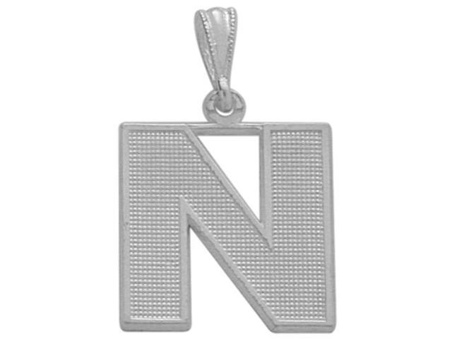 Sterling Silver Initial N Pendant with Chain