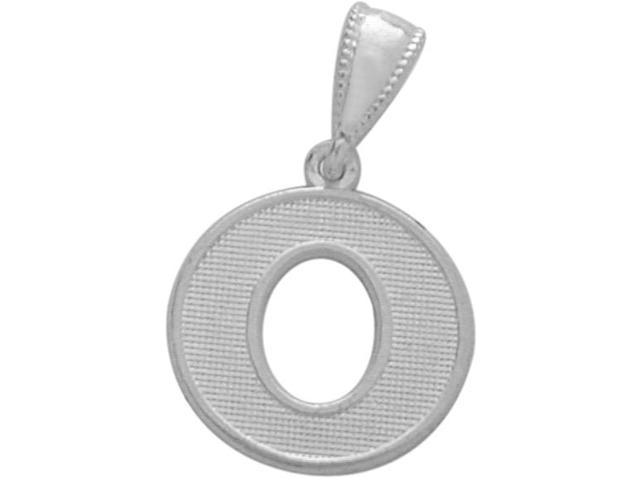 Sterling Silver Initial O Pendant with Chain