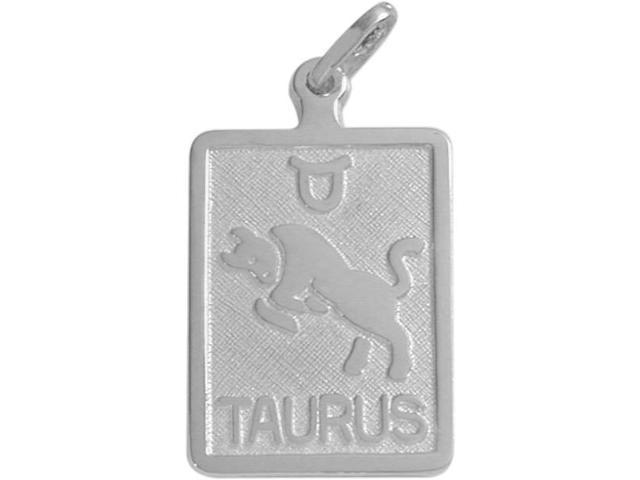 Sterling Silver Taurus Zodiac Pendant with Chain