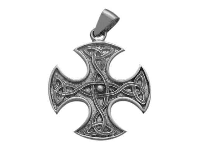 Sterling Silver Celtic 4 -Way Trinity Knot Pendant with Chain