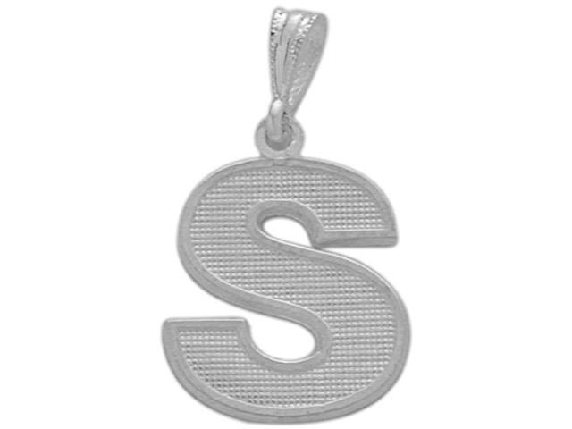 Sterling Silver Initial S Pendant with Chain