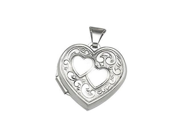 Genuine Sterling Silver Heart Locket with a chain