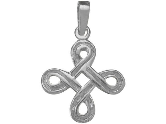 Genuine Celtic Knot Sterling Silver Pendant with Chain