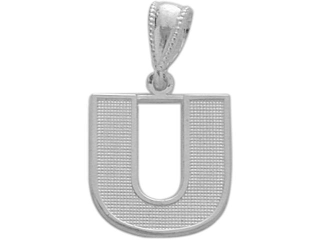 Sterling Silver Initial U Pendant with Chain