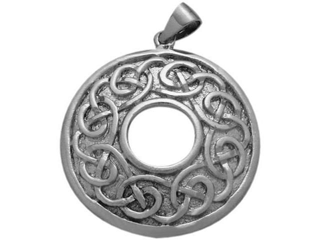 Traditional Genuine Sterling Silver Celtic Knot Pendant with Chain
