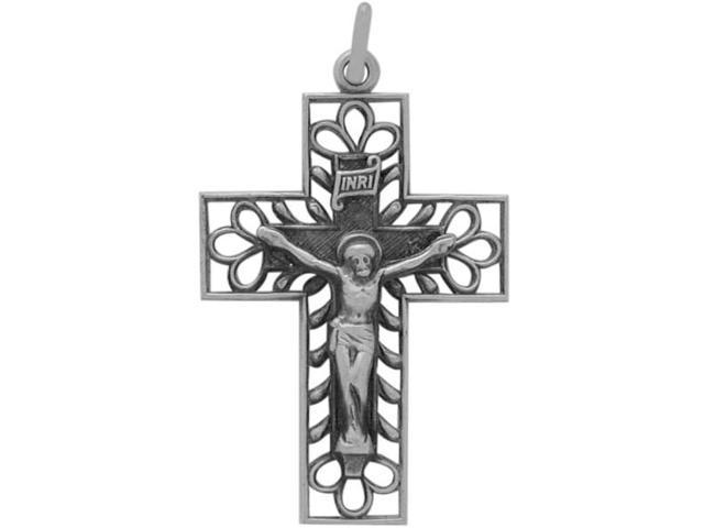 Genuine Sterling Silver Religious Classy Crucifix with chain