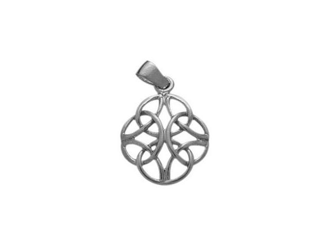 Genuine Sterling Silver Fancy Celtic Knot Pendant