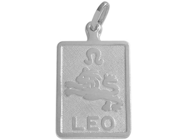 Sterling Silver Leo Zodiac Pendant with Chain