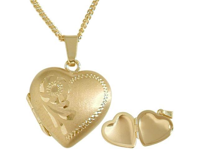 Ladies 10 karat Yellow Gold Heart Locket with  Necklace