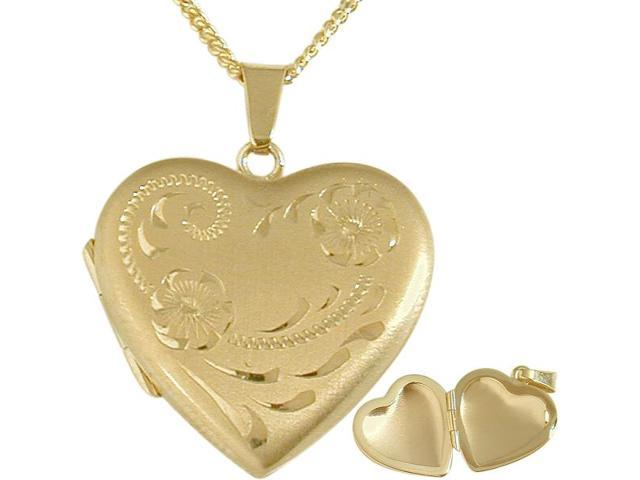 Ladies Designer 10 karat Yellow Gold Heart Locket with  Necklace