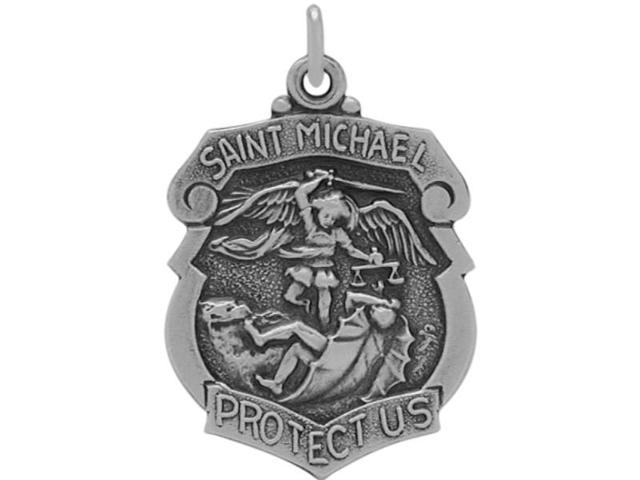 Sterling Silver St. Michael Religious Medal Medallion with chain
