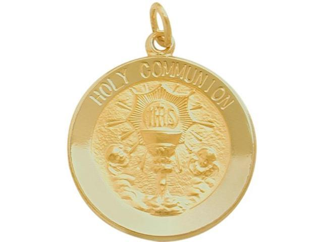 14 Karat Gold High Polish Religious Holy Communion Medal Medallion with 12