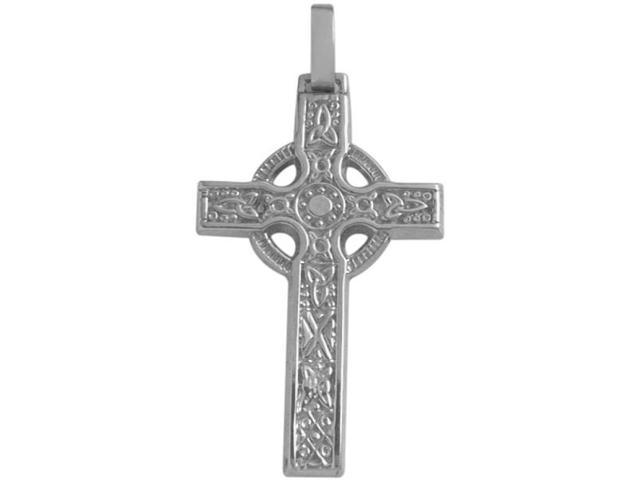10 Karat White Gold Detailed Celtic Cross with a  chain