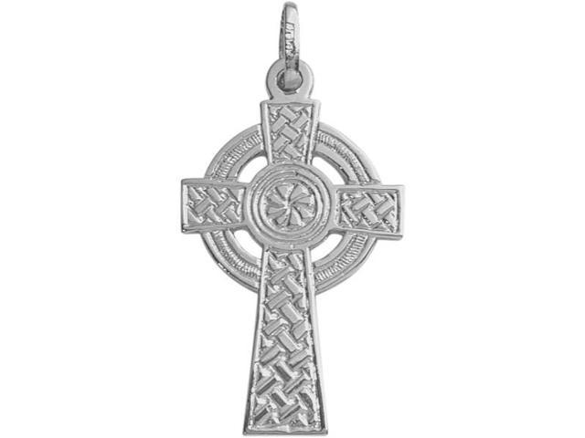 White Gold Celtic Cross with a Chain