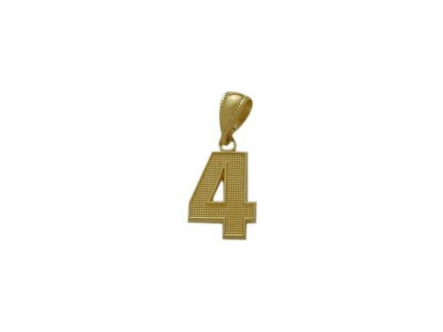 10 Karat Yellow Gold Number 4 Pendant