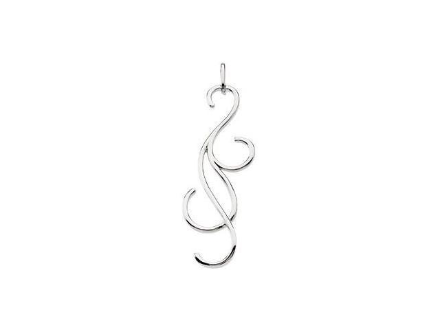 Genuine Sterling Silver Swirl & Curl Pendant with a chain