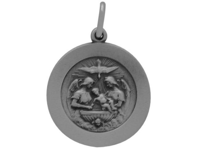 Genuine Sterling Silver Religious Medal Medallion with chain