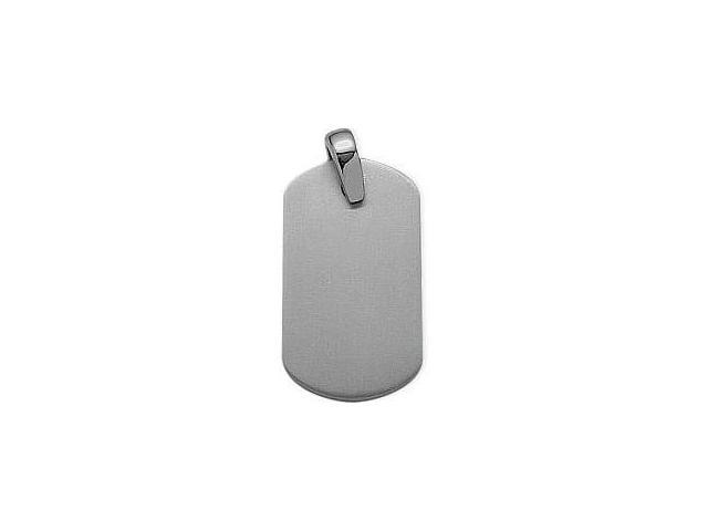 Men's Titanium Dog Tag Pendant with  genuine sterling silver chain