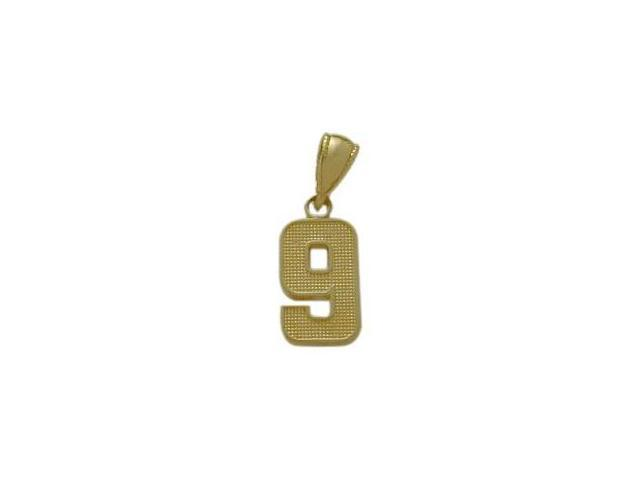 14 Karat Yellow Gold Number 9 Pendant
