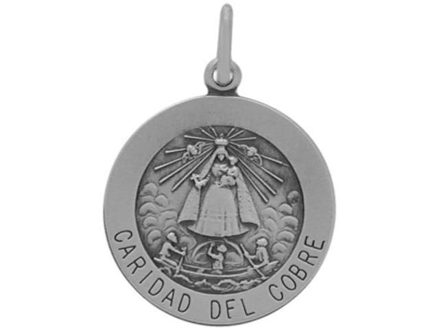 Sterling Silver Caridad Del Cobre Medal Medallion with chain