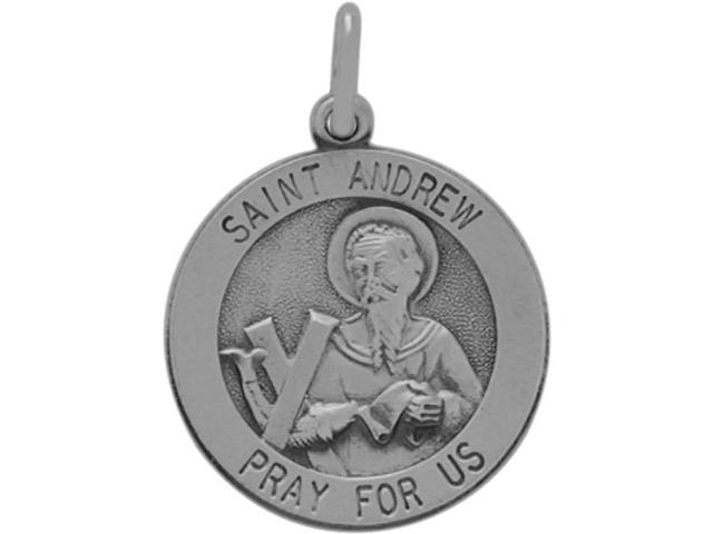 Sterling Silver St. Andrew Religious Medal Medallion with chain