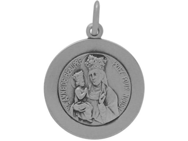 Sterling Silver St. Anne De Beaupre Religious Medal Medallion with chain