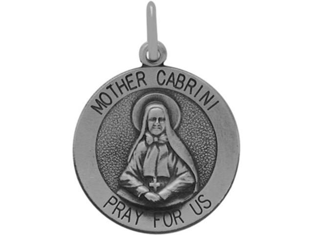 Sterling Silver Mother Cabrini Medal Medallion with chain