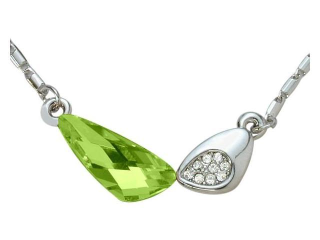 SWAROVSKI® Elements Green 8 Stone Pendant with a chain