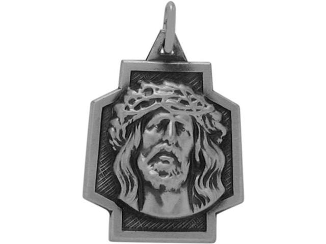 Sterling Silver Small Jesus Religious Medal Medallion with chain