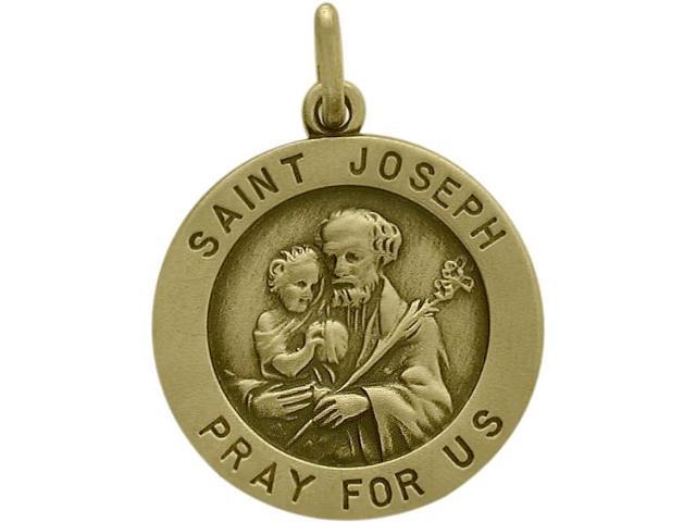 14 Karat Yellow Gold Saint Joseph Religious Medal Medallion