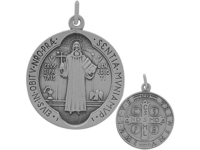 Sterling Silver Religious Medal Medallion with chain