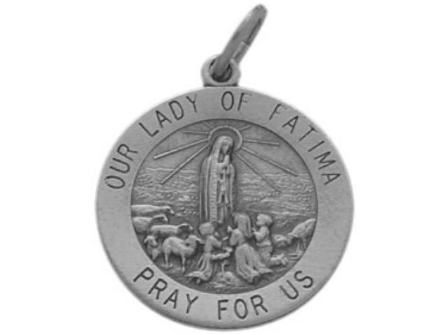Genuine Sterling Silver Our Lady of Fatima Medal Medallion with Chain