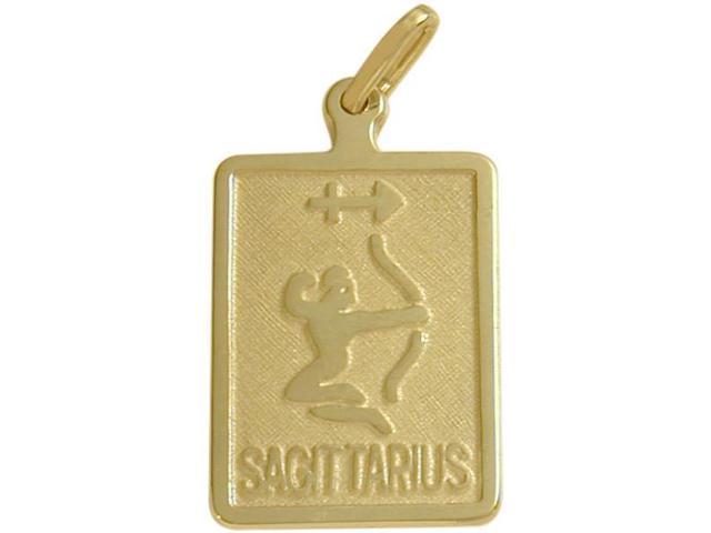 10 Karat Yellow Gold Sagittarius Zodiac Pendant with Chain