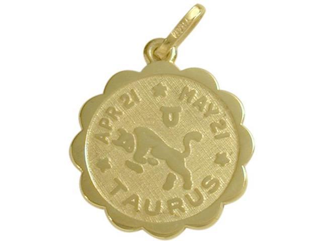10 Karat Yellow Gold Taurus Zodiac Pendant (Apr 21 - May 21) with Chain