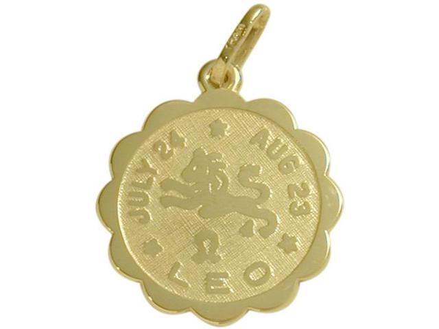 10 Karat Yellow Gold Leo Zodiac Pendant (July 24 - Aug 23) with Chain
