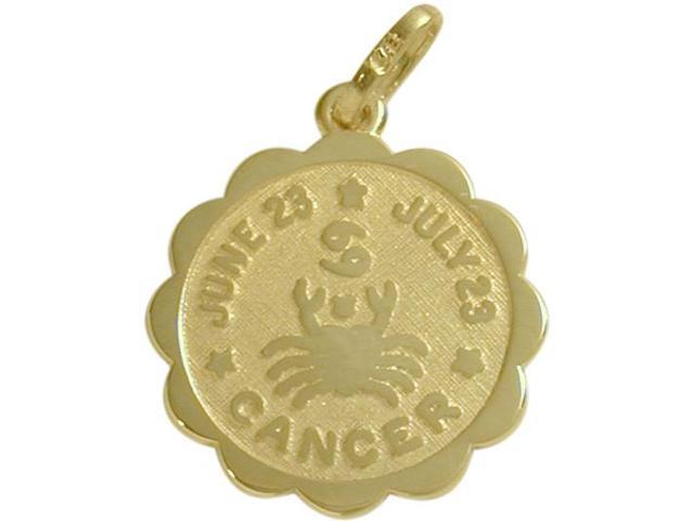 10 Karat Yellow Gold Cancer Zodiac Pendant (June 23-July 23) with Chain