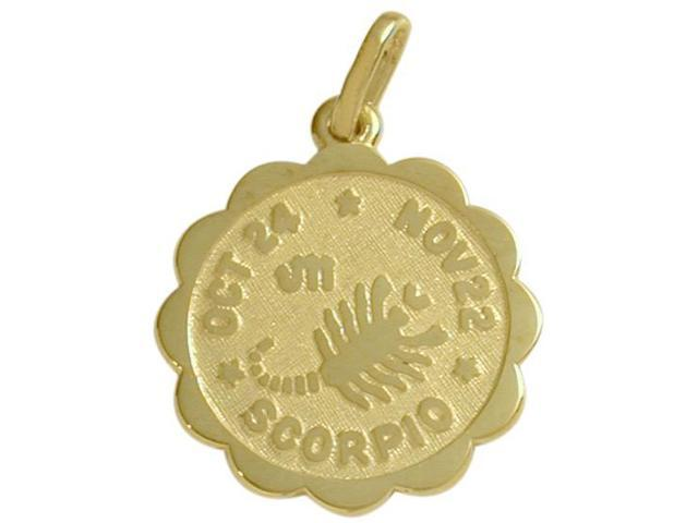 10 Karat Yellow Gold Scorpio Zodiac Pendant (Oct 24-Nov 22) with Chain