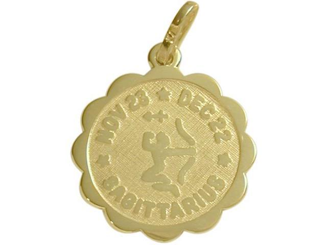 10 Karat Yellow Gold Sagittarius Zodiac Pendant (Nov23-Dec22) with Chain