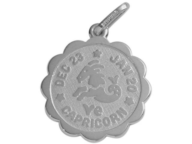 10 Karat White Gold Capricorn Zodiac Pendant (Dec 23-Jan20)