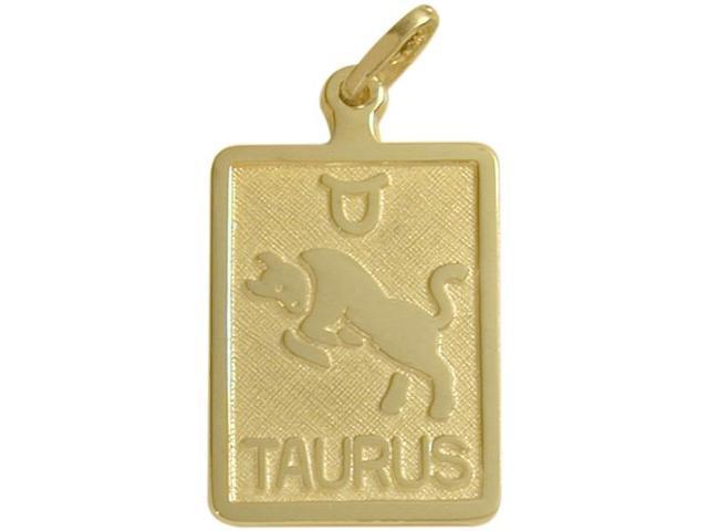 14 Karat Yellow Gold Taurus Zodiac Pendant with Chain
