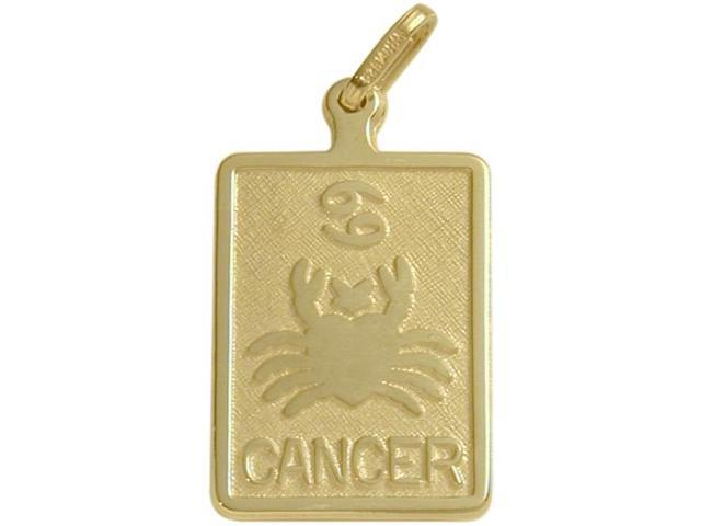 14 Karat Yellow Gold Cancer Zodiac Pendant with Chain